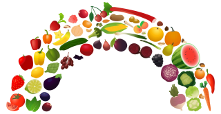 Rainbow Food Vegetable Png PNG images