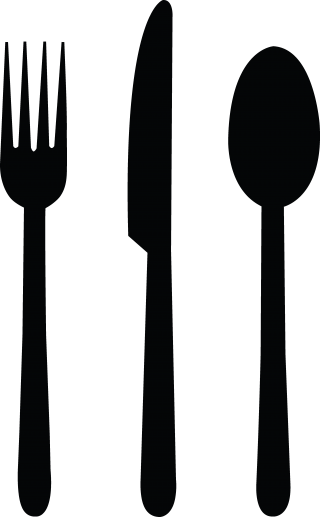 Fork Knife Spoon Black Png PNG images