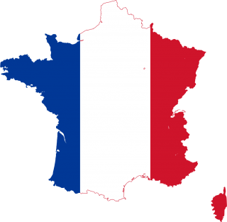 Silhouet France With Flag Png PNG images