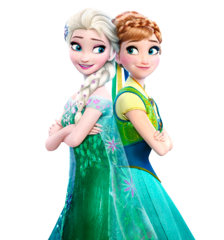 Elsa And Anna Frozen Fever Png PNG images