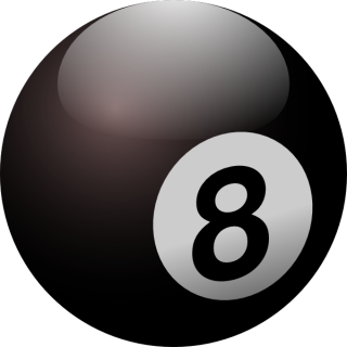 Glossy Eight Ball Png PNG images