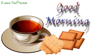 Good Morning Tea Message Image PNG images