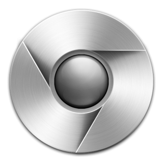 Grey Chrome Icon PNG images