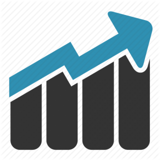 Graph With Up Arrow PNG images