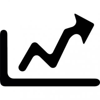 Growth Graph With Arrow To The Right Icon PNG images