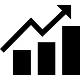 Money Graph With Up Arrow Icon PNG images