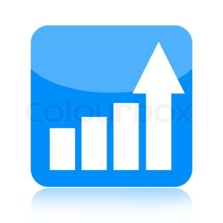 Statistical Graph With Arrow Icon PNG images