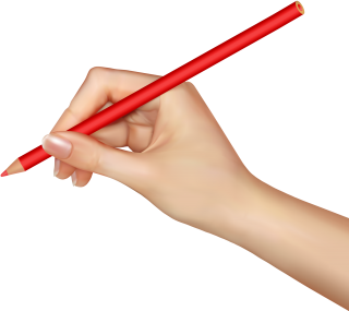 Pencil Red Hands Png PNG images
