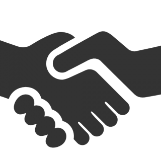 Black Handshake Icon PNG images