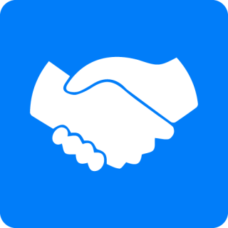 Blue Handshake Icon PNG images