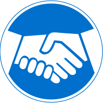 Blue, White, Handshake Icon PNG images