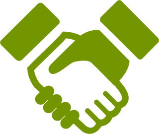 Green Handshake Icon PNG images