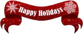 Happy Holidays Text Banner Png PNG images