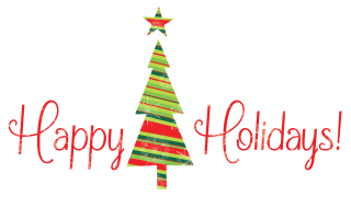 Happy Holidays With Tree Png PNG images