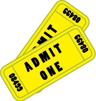 Admit One Ticket Yellow Png Picture PNG images