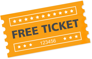 Free Ticket Transparent Background PNG images