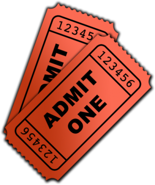 Red Admit One Ticket PNG images