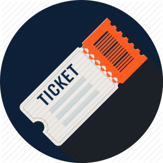 Ticket PNG Clipart In Circle Design PNG images
