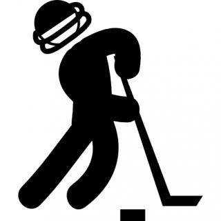 Man Practicing Ice Hockey Icon PNG images