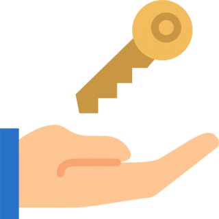 Hand With House Key Icon PNG images