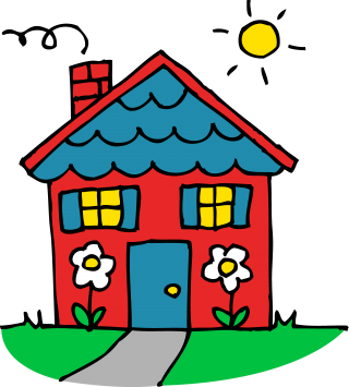 Sun, House, Home, Cute Clipart PNG images