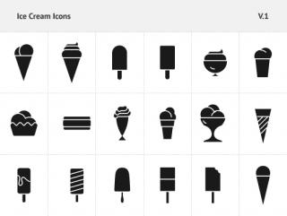 Filled Ice Cream Icons Vector Psd PNG images
