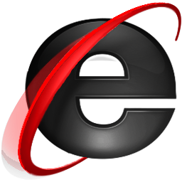Black Internet Explorer 9 Icon PNG images