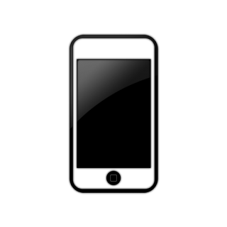Simple Black Window White Iphone Icon PNG images