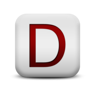 Letter D Svg Icon PNG images