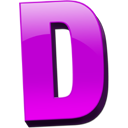 Letter D Vector Drawing PNG images