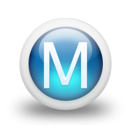 Blue Letter M Icon Png PNG images