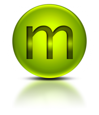 Metalic Green Letter M Icon Png PNG images