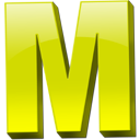 Yellow Letter M Icon Png PNG images