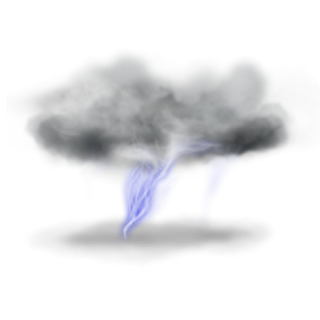 Big Lightning With Clouds PNG PNG images