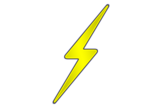 Yellow Lightning Bolt Background PNG images