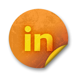 Linkedin Logo Webtreats Icons, Free Icons In Orange Stickers Social PNG images
