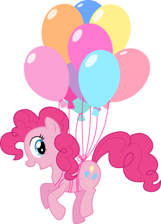 My Little Pony With Ballons Picture Download PNG images