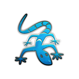 Blue Lizard Icon PNG images