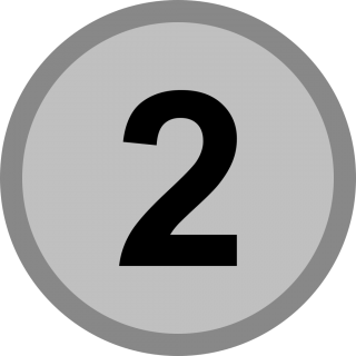 Medal, Number 2 Icon PNG images