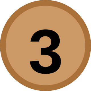 Medal, Number 3 Icon PNG images