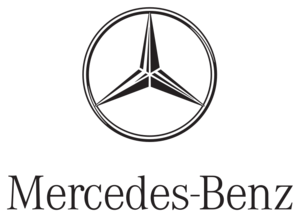 Whiite On Black Mercedes Benz Logo Png PNG images