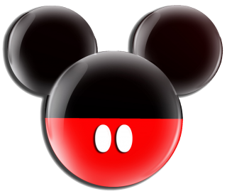 Black Red Mickey Mouse Icon PNG images