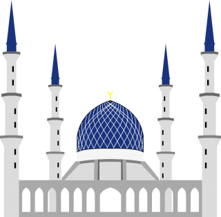 Mosque Blue White PNG images