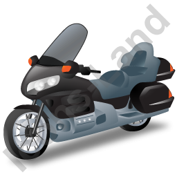 Touring Motorcycle Black Icon PNG images