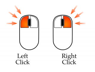 Vector Mouse Left Click Icon PNG images