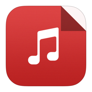 Red Square Mp3 Icon PNG images