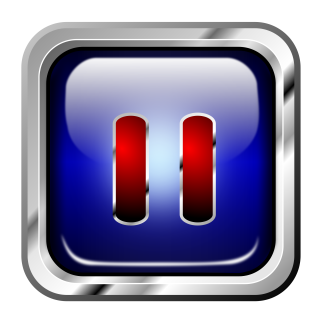 Icon Blue Multimedia Pause PNG images