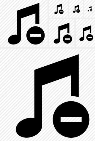 Black Music Stop Icon PNG images