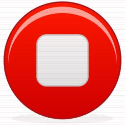 Red Music Stop Icon PNG images