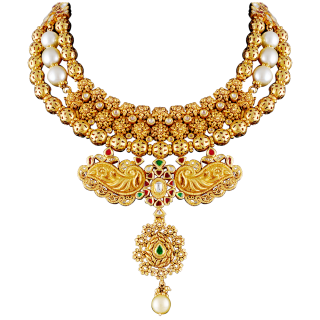 Gold Necklace For Women PNG images